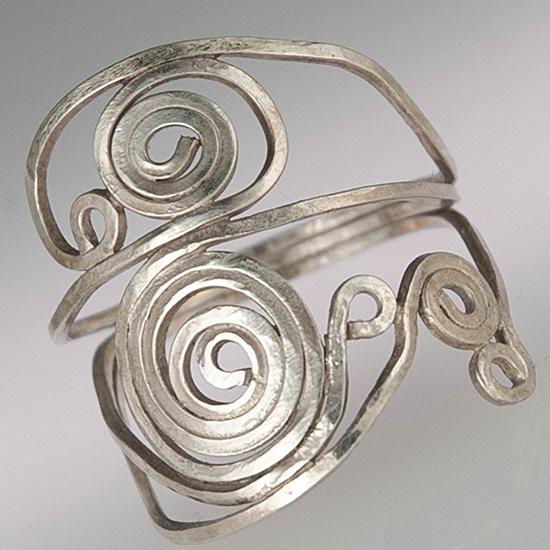 spiral ring jewelry Lucy foronda Dirksen